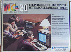 [Front of Commodore Vic 20 Box]