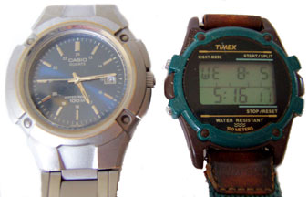 [Modern Casio Analog and Timex LCD Quartz Wataches]
