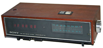 [Sony Digimatic LED AM-FM Clock Radio]